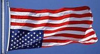 Upside down US flag