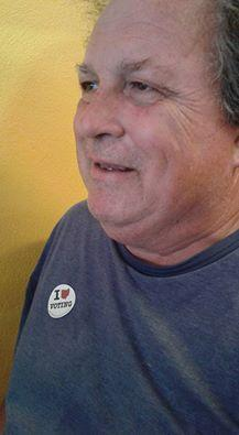 Bob with I voted sticker