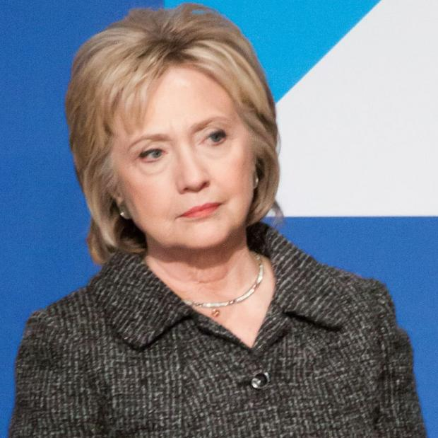 Hillary looking suspicious