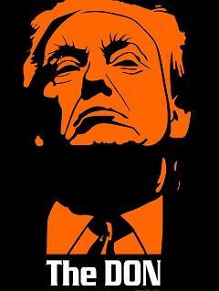 Orange face of Donald Trump