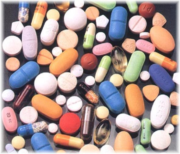 Lots of colorful pills