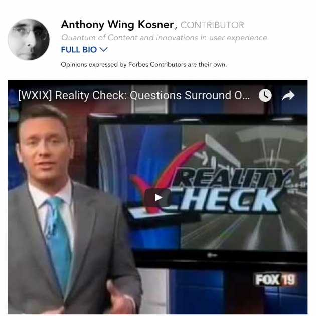 Screenshot of white male newscaster next to a screen with the words Reality Check with a big red checkmark