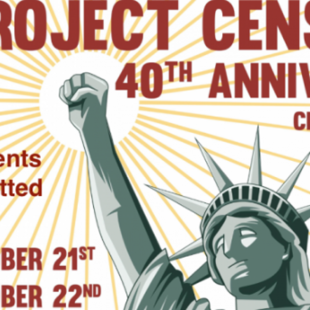 Project Censored logo and statue of liberty