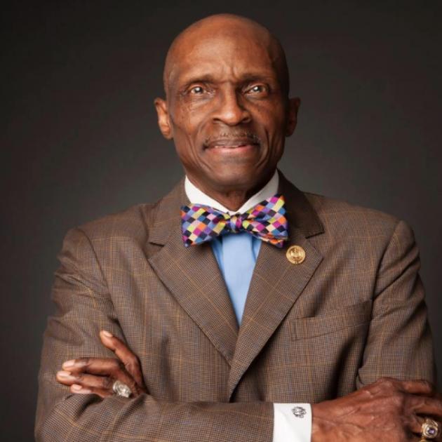 Black man in bow tie