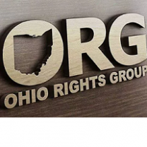 Letters O-R-G with the opening of the O being the shape of the state of Ohio and underneath the words Ohio Rights Group