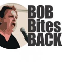 Bob Fitrakis giving speech and words Bob Bites Back