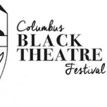 Half of a drama mask smiling and words Columbus Black Theater Festival
