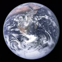 Photo of blue Earth from space