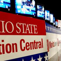 Sign that says Ohio State Election Central