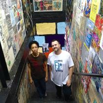 DJ Ororo and DJ Dingo8 In the stairway of Used Kids