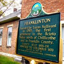 Plaque wth history of Franklinton