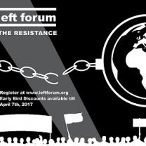 Banner about the Left Forum