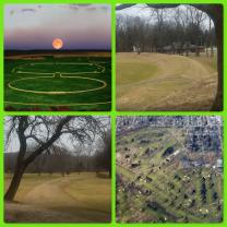 Collage of photos of Octagon Mound