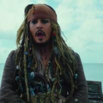 Johnny Depp as Jack Sparrow the pirate