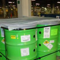 Green toxic waste barrels