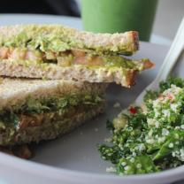 Sandwiches with lots of green inside