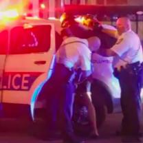 Police arresting someone