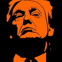 Orange face of Donald Trump