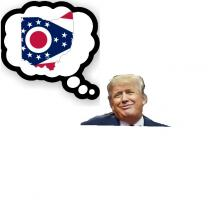 Trump with Ohio flag
