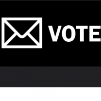 """Word """"Vote"""""""" by an envelope"""