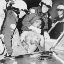 Police strangling a black man at Watts riot