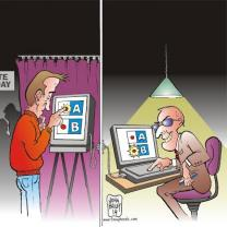 Cartoon about stealing elections
