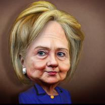 Hilary cartoon